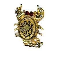 Damascene Gold Scorpio the Scorpion Zodiac Tie Tack / Pin by Midas of Toledo Spain style 5320