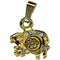 Damascene Gold Aries the Ram Zodiac Pendant on Chain Necklace by Midas of Toledo Spain style 5406