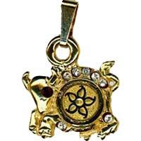 Damascene Gold Taurus the Bull Zodiac Pendant on Chain Necklace by Midas of Toledo Spain style 5407